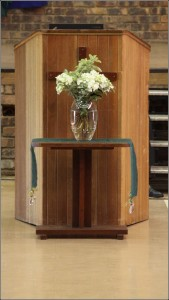 Pulpit and Flowers